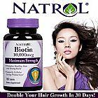 Biotin natrol 10000mcg suplemento capilar - a mais forte biotina do mercado.