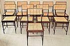 Cadeiras 1967 joaquin tenreiro 10 unidades - garimpo contemporaneo