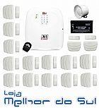Kit de alarme convencional brisa cell 804 completo e com frete gratis
