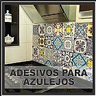 Papeis de parede adesivos azulejos mosaicos
