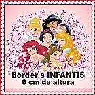 Faixas border decorativas infantis - princesas