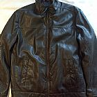 Jaqueta de couro ecol�gico tommy hilfiger masculino marrom