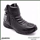 Bota Cano Curto Atron Shoes 271 - Couro Honda Moto Com Ziper