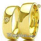 Aliancas em ouro para casamento