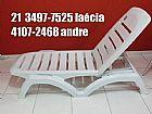 Conjunto mesas cadeiras espreguicadeiras
