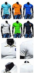 Camisa polo jovem moderna em cores vibrantes