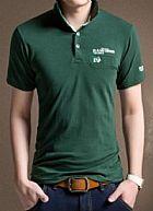 Camisa polo casual moderna com detalhes - manga curta