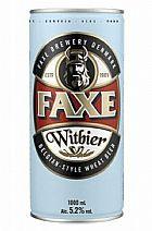 Cerveja faxe 1 litro witbier 3 latas