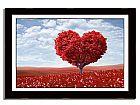 Quadro com poster arvore do amor e moldura tamanho 100 x 70 cm
