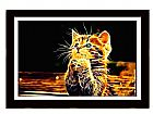 Quadro com poster gato digital em sao paulo tamanho 70 x 50 cm