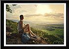Quadro com poster mulher na montanha e moldura tamanho 100 x 70 cm em sao paulo