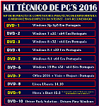 Kit t�cnico de computadores em 15 dvd�s - completo