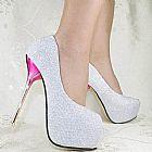 Sapato importado feminino glitter