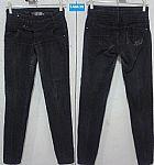 Jeans feminina preta e azul