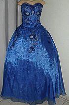 Vestido de debutante 2 em 1 azul royal