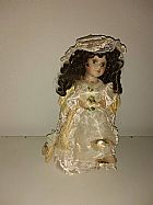 Boneca dama antiga porcelana