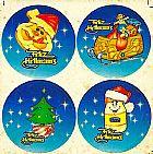 Adesivo feliz rellmannas,    tema natal,  adesivos bem antigos e rarissimos para sua colecao,    recorte eletrônico