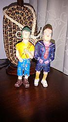 Chaves e kiko bonecos antigos borracha macica