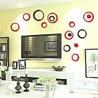 Circulos decoracao 3d em cores para parede da sala,  quarto,  cozinha,  escritorio,  etc em mdf � 10 pecas