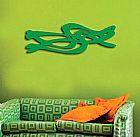 Quadro escultura abstrato decorativa em mdf vazado