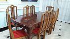 Mesa de jantar madeira mogno usada 8 lugares