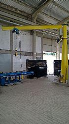 Guindaste giratorio para locomocao de produtos