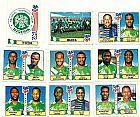 Nigeria,  7 figurinhas duplas,  1 escudo,  1 atletas,  campeonato mundial de futebol de 1994