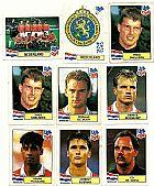Holanda (nederland),  13 figurinhas,  1 escudo,  1 atletas,  campeonato mundial de futebol de 1994