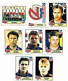 Norge (noruega),  14 figurinhas,  1 escudo,  1 atletas,  campeonato mundial de futebol de 1994