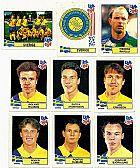 Sverige (suecia),  17 figurinhas,  1 escudo,  1 atletas,  campeonato mundial de futebol de 1994