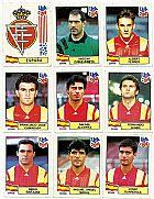 Espanha,   16 figurinhas,   1 escudo,   campeonato mundial de futebol de 1994