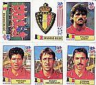 Belgique-belgie (belgica),  15 figurinhas,  1 escudo,  1 atletas,  campeonato mundial de futebol de 1994