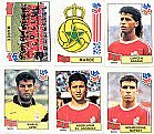 Marroc (marrocos),  17 figurinhas,  1 escudo,  1 atletas,  campeonato mundial de futebol de 1994
