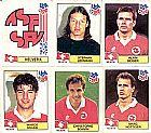 Helvetia (suica),  13 figurinhas,  1 escudo,  campeonato mundial de futebol de 1994