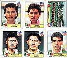 Mexico,  16 figurinhas,  1 atletas,  campeonato mundial de futebol de 1994
