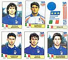 Italia,  17 figurinhas,  1 escudo,  campeonato mundial de futebol de 1994