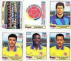 Colombia,  14 figurinhas,  1 escudo,  1 atletas,  campeonato mundial de futebol de 1994