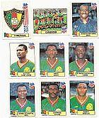 Cameroun (camaroes),  16 figurinhas,  1 escudo,  1 atletas,  campeonato mundial de futebol de 1994