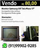 Monitor samsung crt tela plana 17