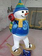 Boneco de neve com esqui
