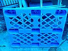 Estribo azul em plastico tipo pallet