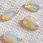 4 pingentes gotas irisadas muda de tom de acordo com a luz,   para brincos pulseiras,   gargantilhas...
