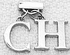 Pingentes conjunto de metal branco polido brilhoso,   letras (c x h ou h x c e fixador pressao) muito bonito e chamativo