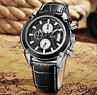 Relógio analógico masculino de altíssima qualidade jedir 2020 pulseira em couro legítimo