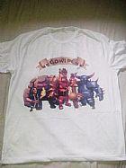 Camiseta clash of clans rei barbaro rainha arqueira e balao