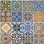 Papel de parede adesivo azulejos
