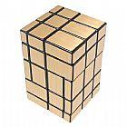 Cubo magico conjugado espelhado dourado 5x5x3 irregular tipo rubik