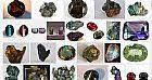 Pedras preciosas,  lapidadas ou brutas de crisoberilo - alexandritas