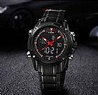 Maravilhoso relógio analógico masculino naviforce modelo m9050- 8 cores - frete grátis