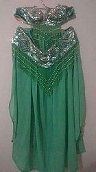 Figurino danca do ventre verde